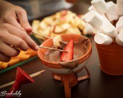 תות טבול בשוקולד